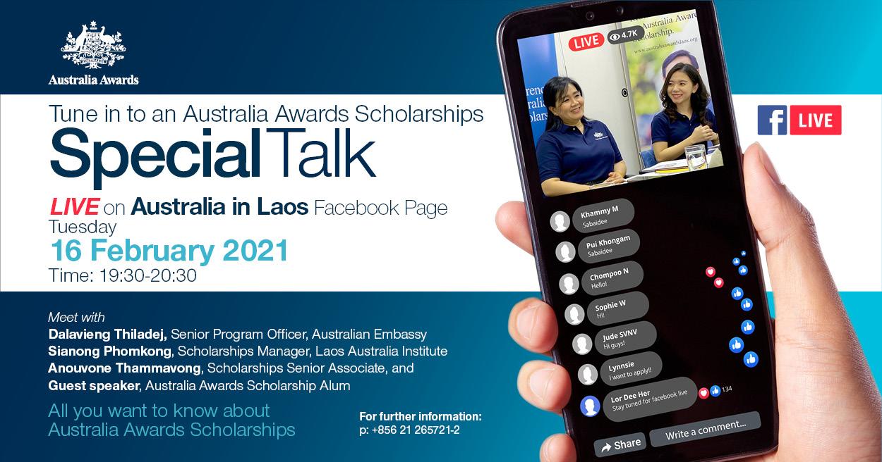 Special Talk on the Australia Awards Scholarships 2022