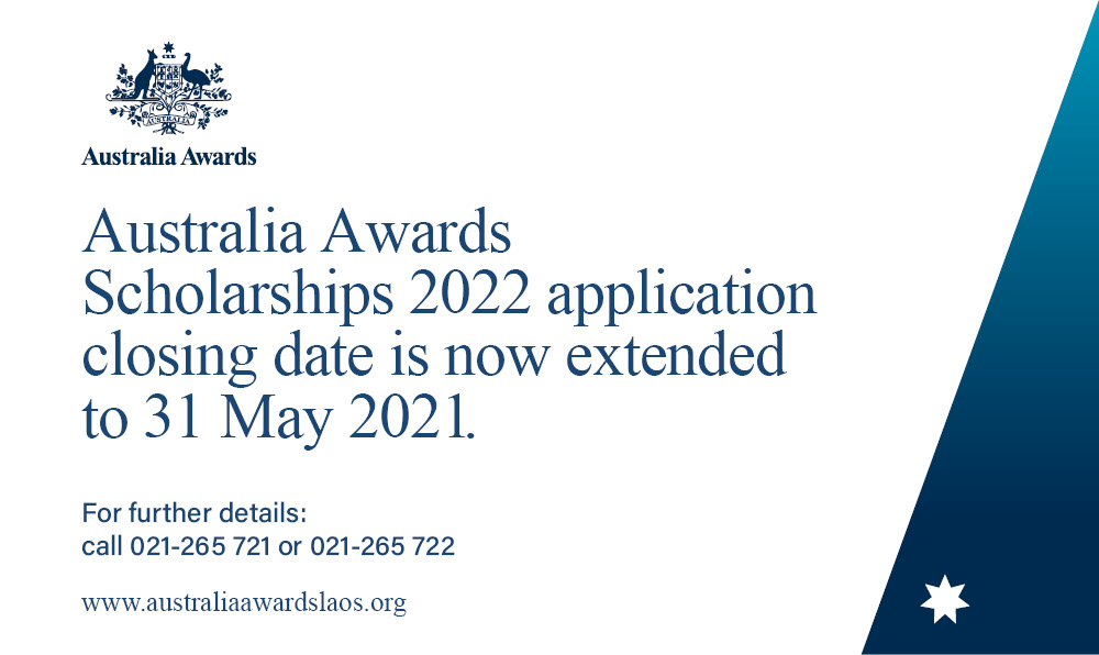 Applications for the Australia Awards Scholarships 2022 have been extended.